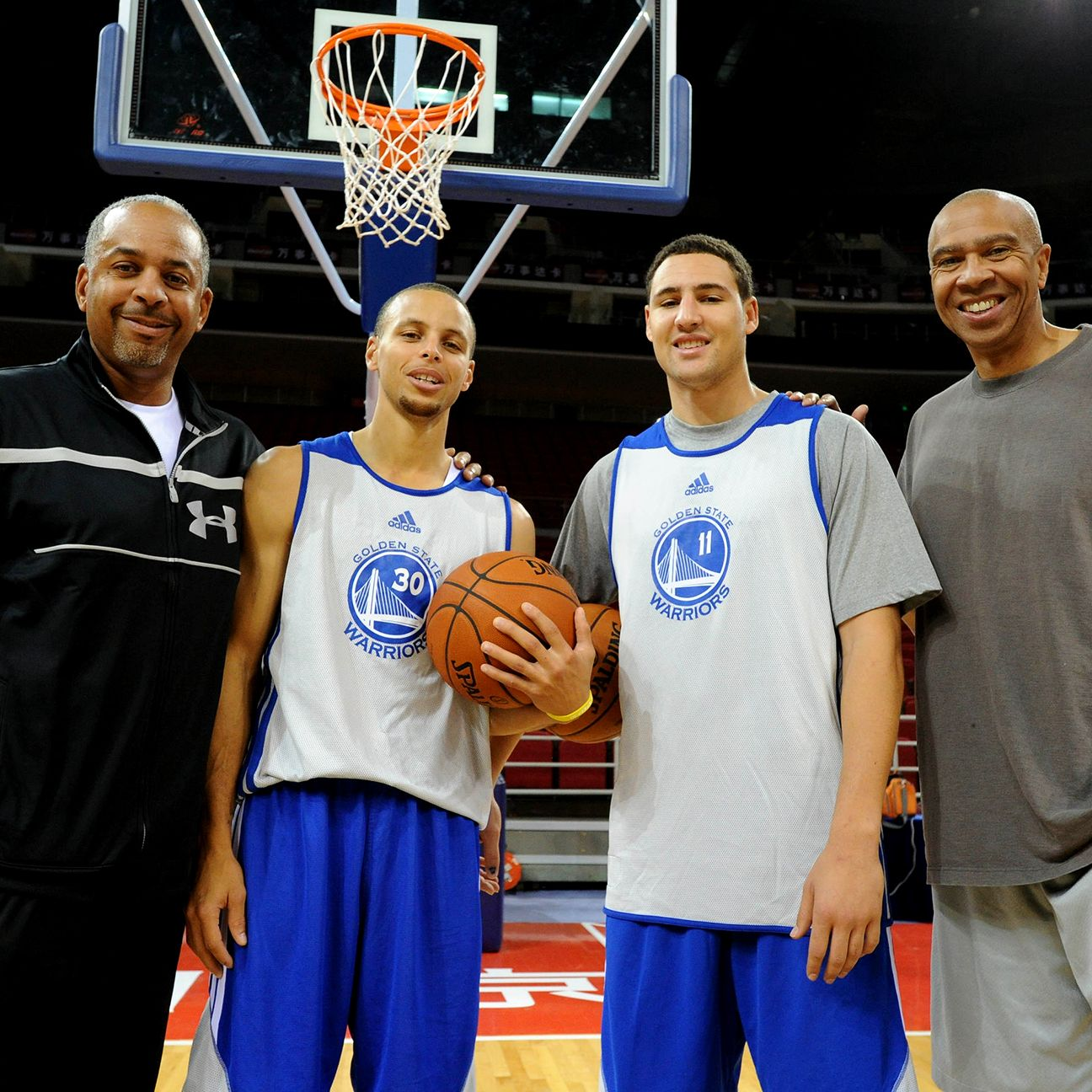 NBA Playoffs 2015: The Splash Fathers Dell Curry and ...
