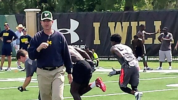 Jim Harbaugh delights Michigan fans with satellite camp invasion of SEC country