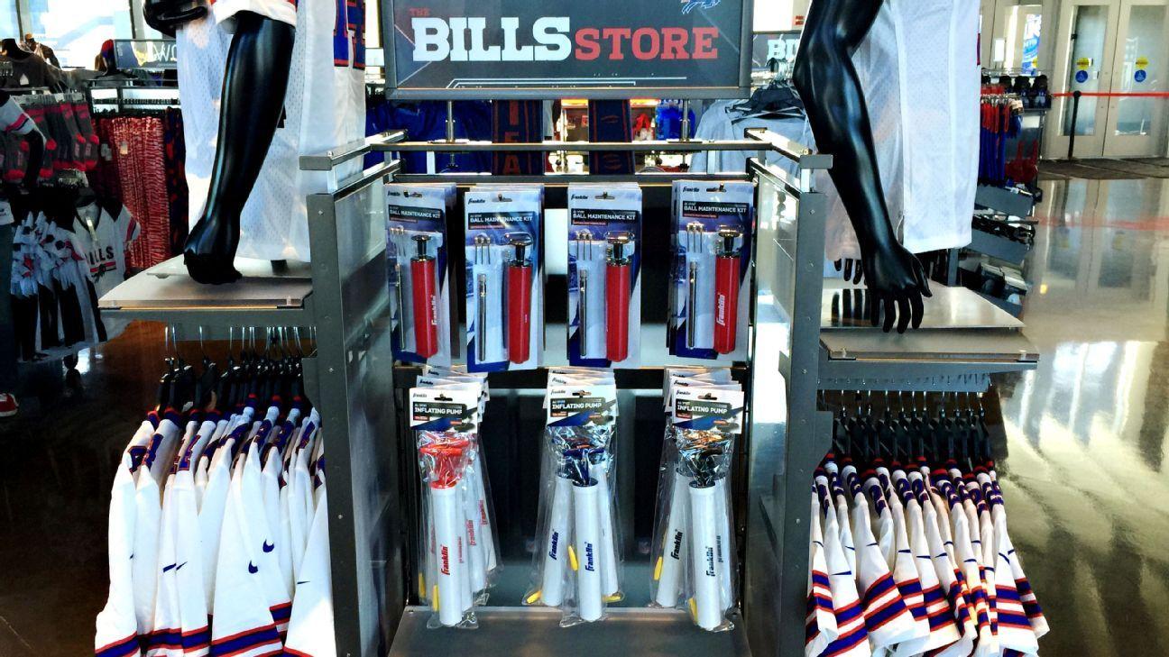 Bills put up air pump display in team store
