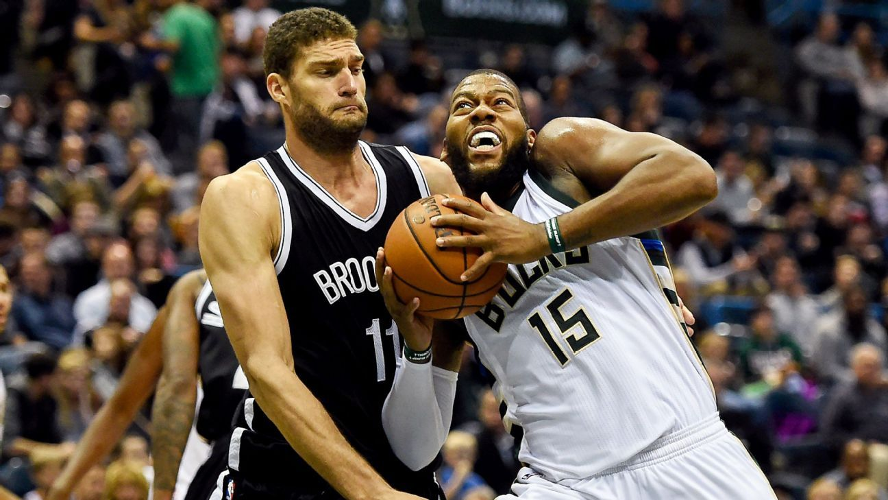 Brook Lopez of Brooklyn Nets exits game vs. Milwaukee ...