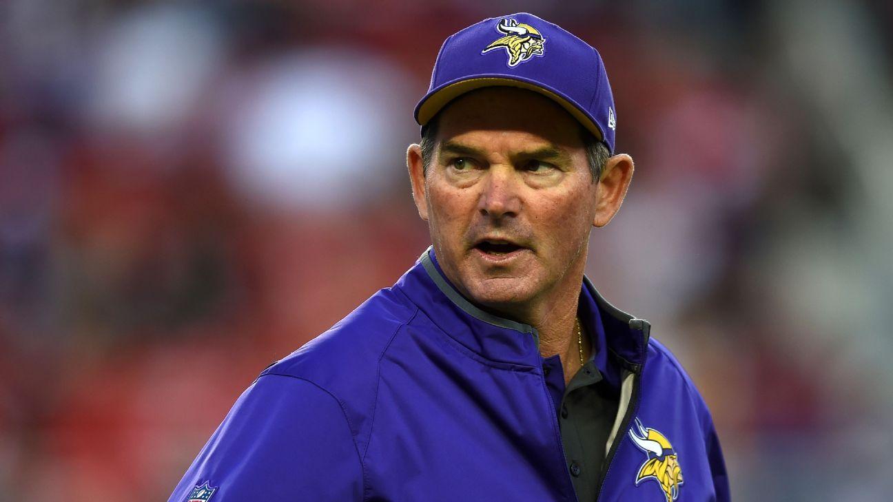 Mike Zimmer of Minnesota Vikings -- Helmet rule will cost some people jobs