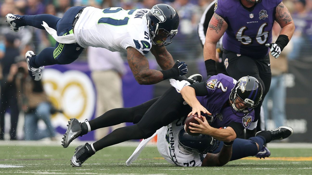 Ravens, Jimmy Clausen pummeled by Seahawks