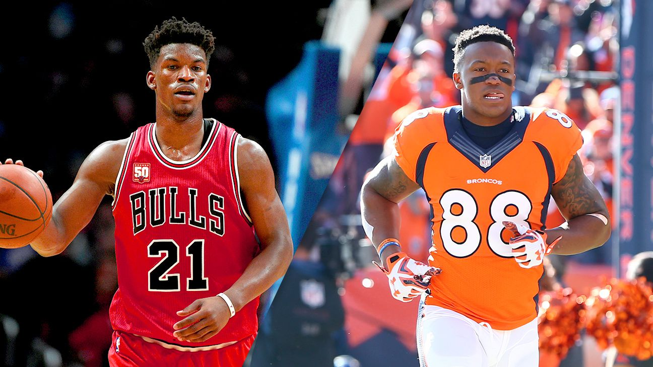 Bulls' Jimmy Butler cheering for DeMaryius Thomas in Super Bowl - Chicago Bulls Blog- ESPN