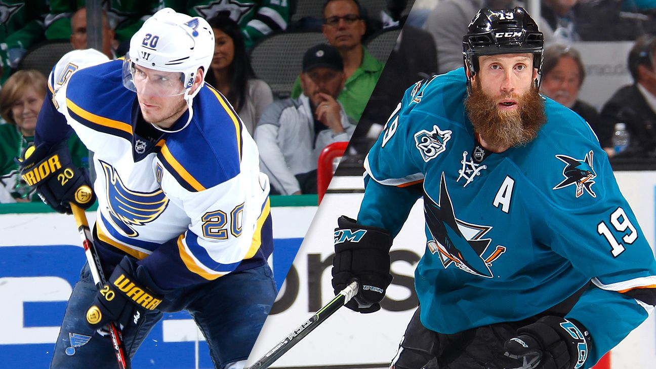 NHL - 2016 Stanley Cup playoffs - Top player matchups in the St. Louis Blues-San Jose Sharks Western Conference finals