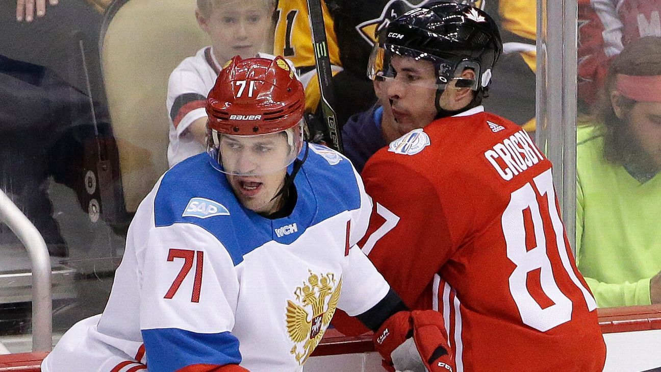 Image result for evgeni malkin goal world cup of hockey russia and canada