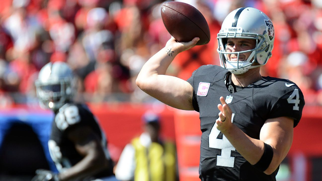 Week 8 fantasy football winners and losers - Carr, Rodgers ...