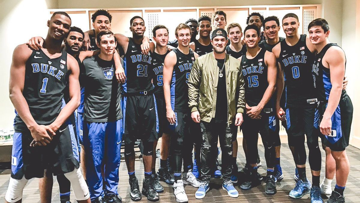 Duke basketball team makes Washington Nationals outfielder Bryce Harper look tiny