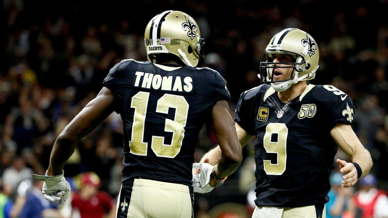 Image result for drew brees michael thomas
