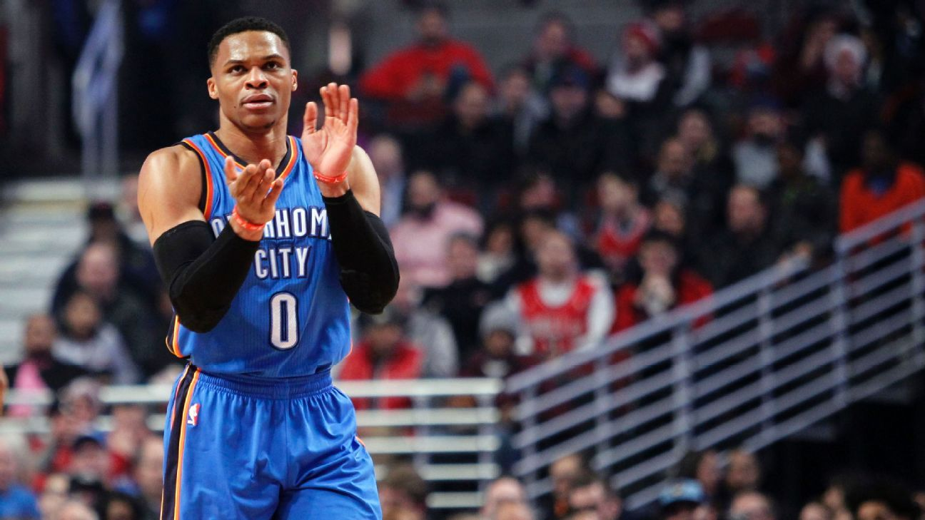 Russell Westbrook of Oklahoma City Thunder not among 2017 NBA All-Star Game starters