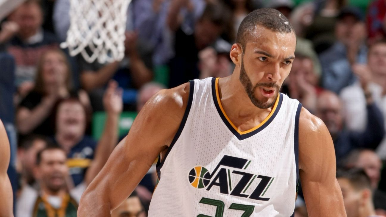 Cavaliers Vs Lakers >> Rudy Gobert of Utah Jazz back Sunday after 2 games out