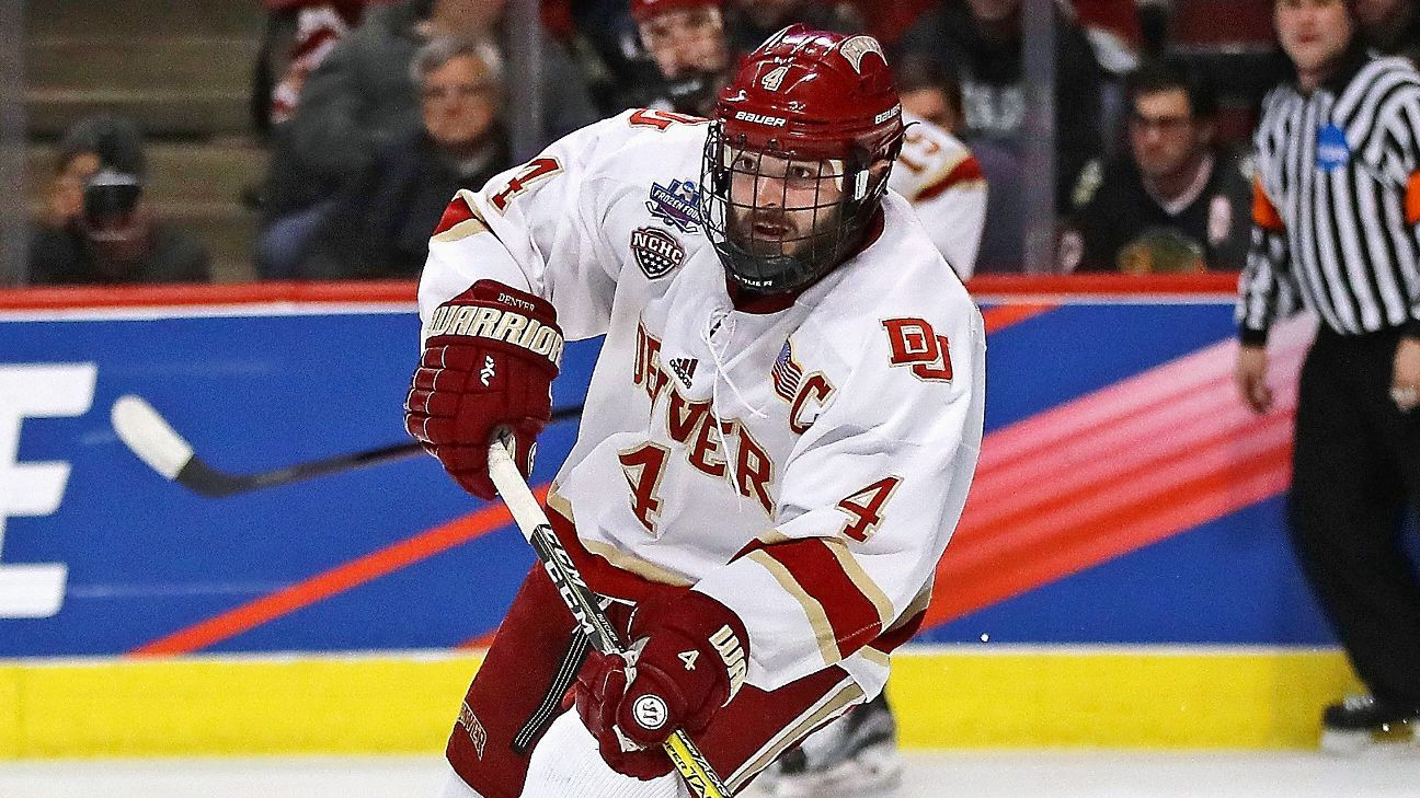 NCAA: Will Butcher Of Denver Wins Hobey Baker Award As Top Player In College Hockey