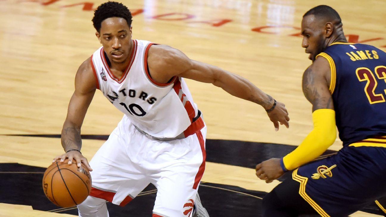DeMar DeRozan of Toronto Raptors on his cold night in Game ...