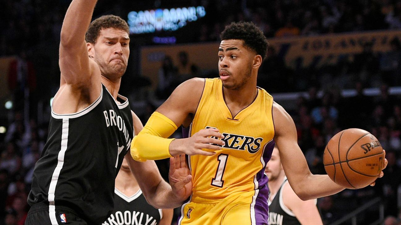 Sources: Lakers, Nets to swap Russell, Lopez