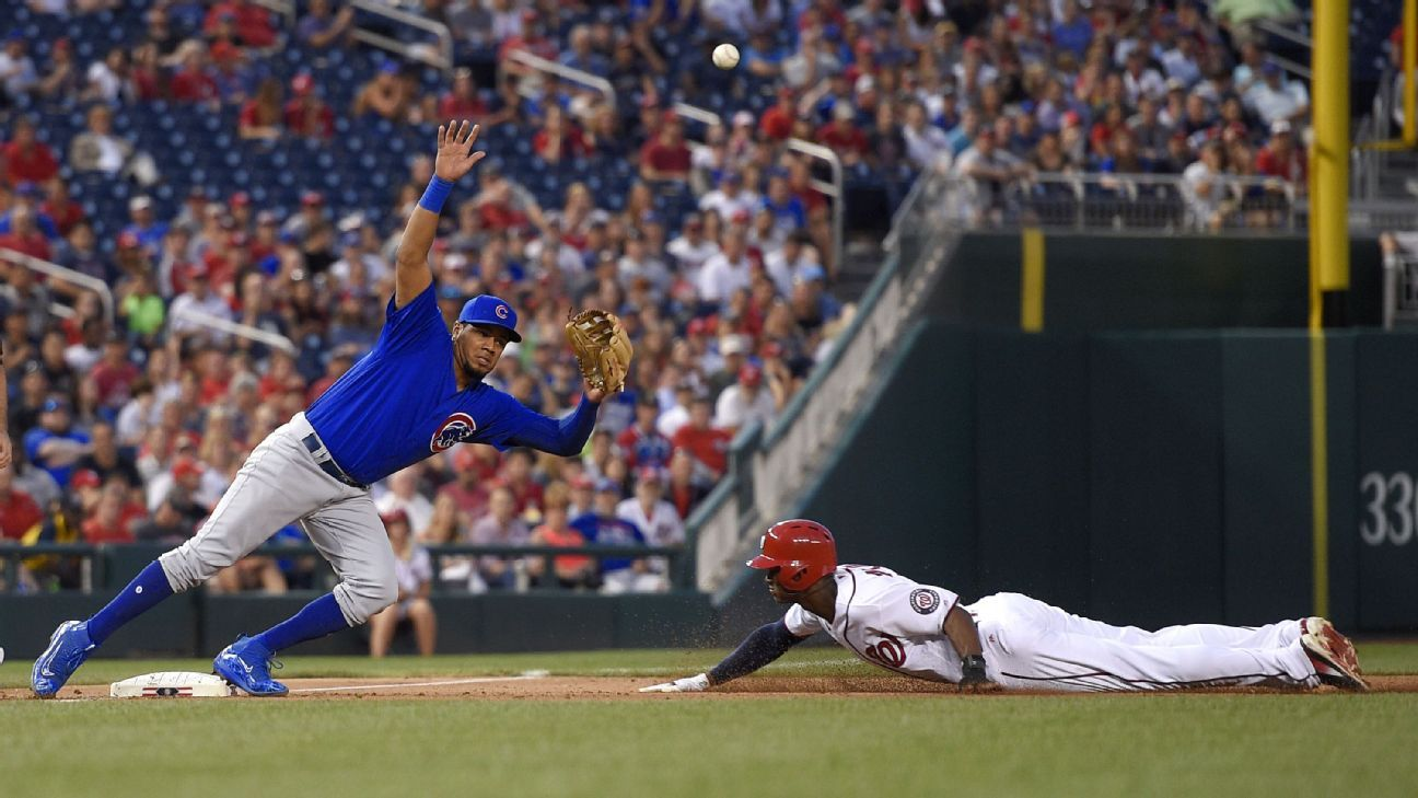 Nationals steal team-record 7 bases off Cubs
