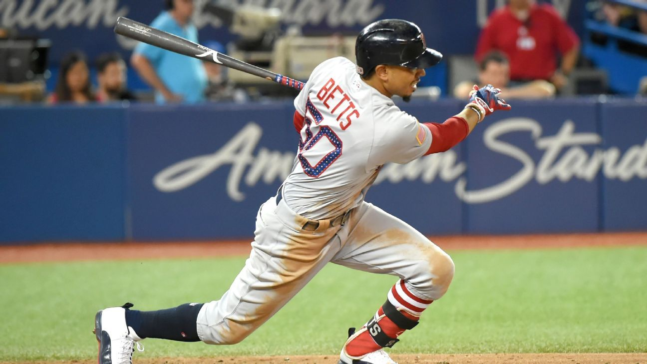 1bb08af0c099 Mookie Betts had eight RBIs Sunday in the Boston Red Sox  s 15-1 rout of  the Toronto Blue Jays