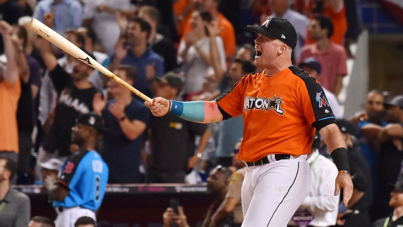 Justin Bour goes yard in the Home Run Derby after his ...