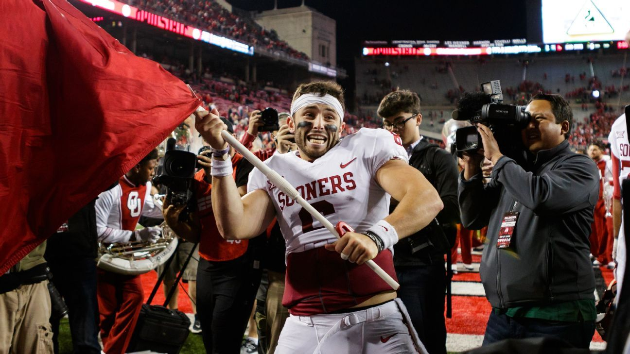 College Football Playoff >> Baker Mayfield apologizes for planting Oklahoma Sooners flag at Ohio State