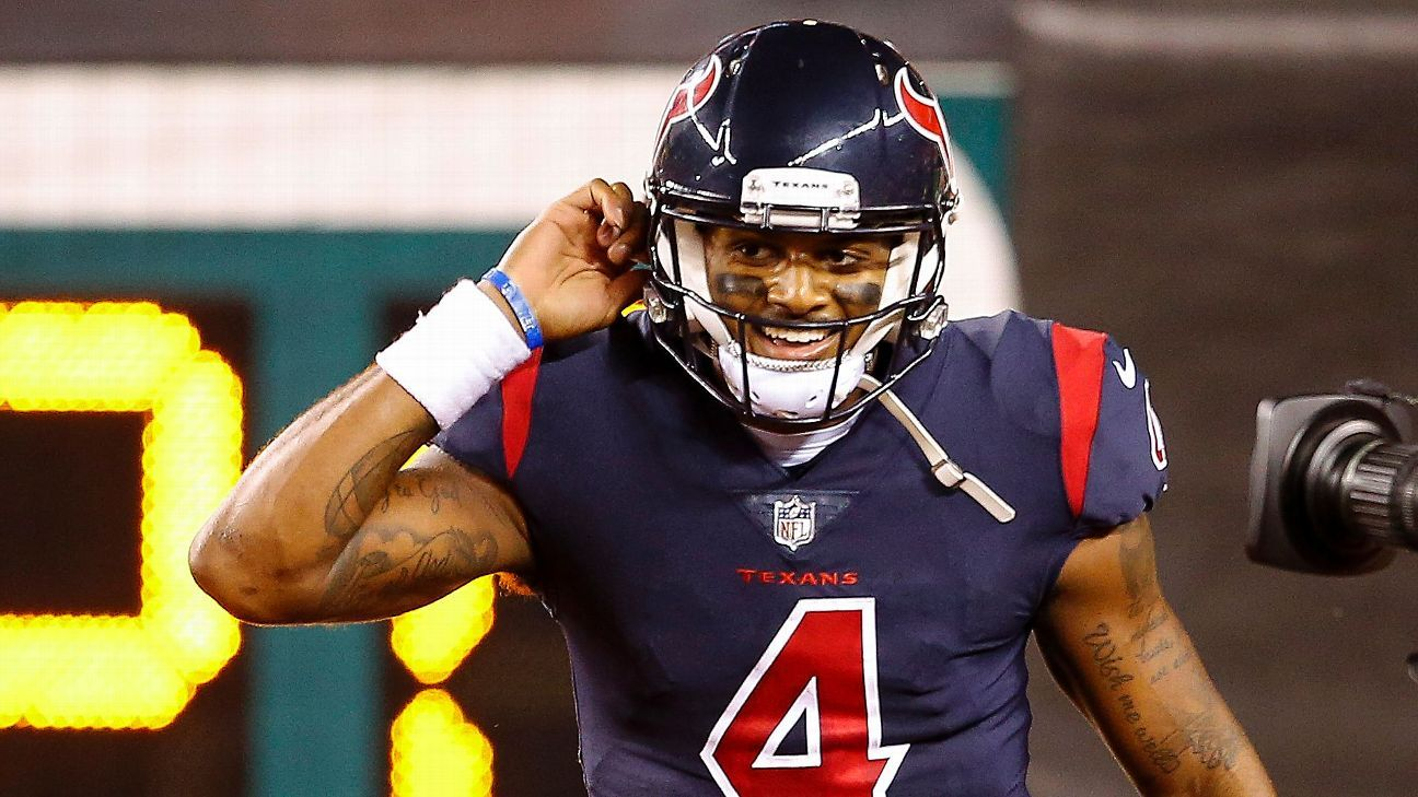 Deshaun Watson of Houston Texans donates game check to three women impacted by Hurricane Harvey