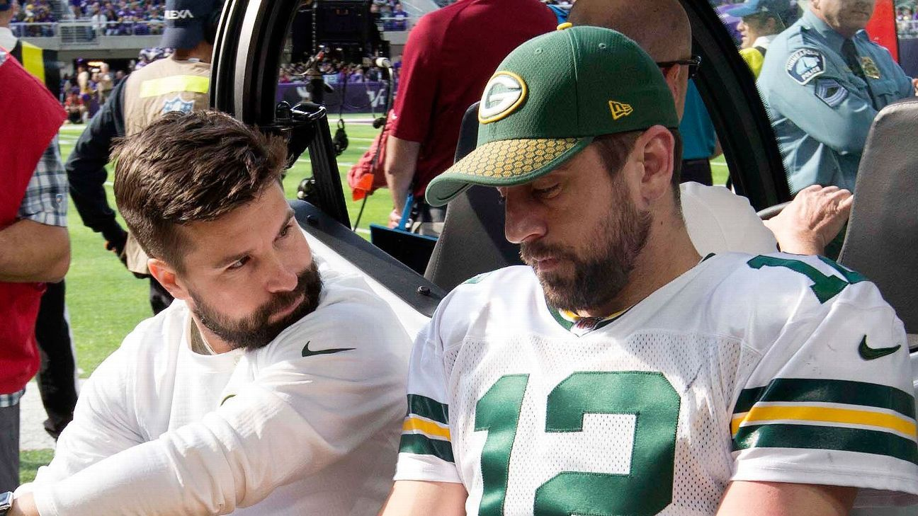 Aaron Rodgers injury moves New Orleans Saints Green Bay Packers