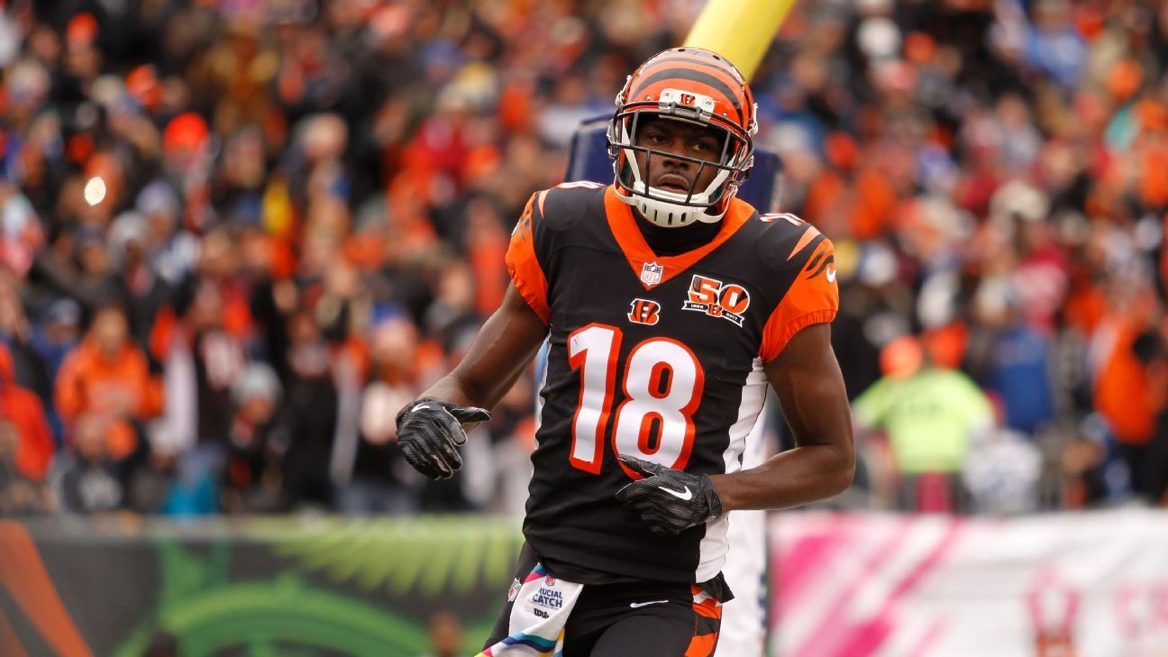 A.J. Green, out with a toe injury, may not return to the Bengals lineup until December, sources told ESPN's Adam Schefter.