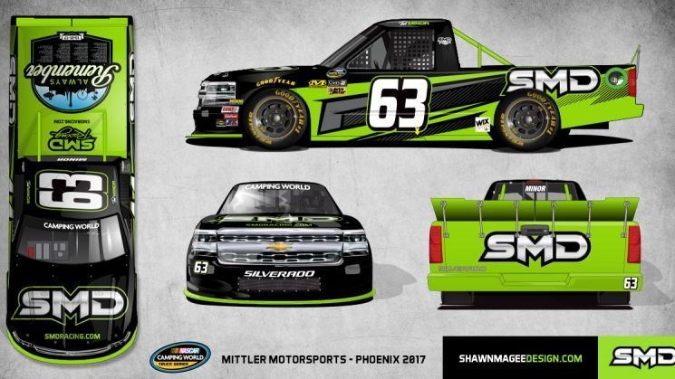 Rusty Wallace Race Cars >> Shawn Magee Design to sponsor Mittler truck at Phoenix