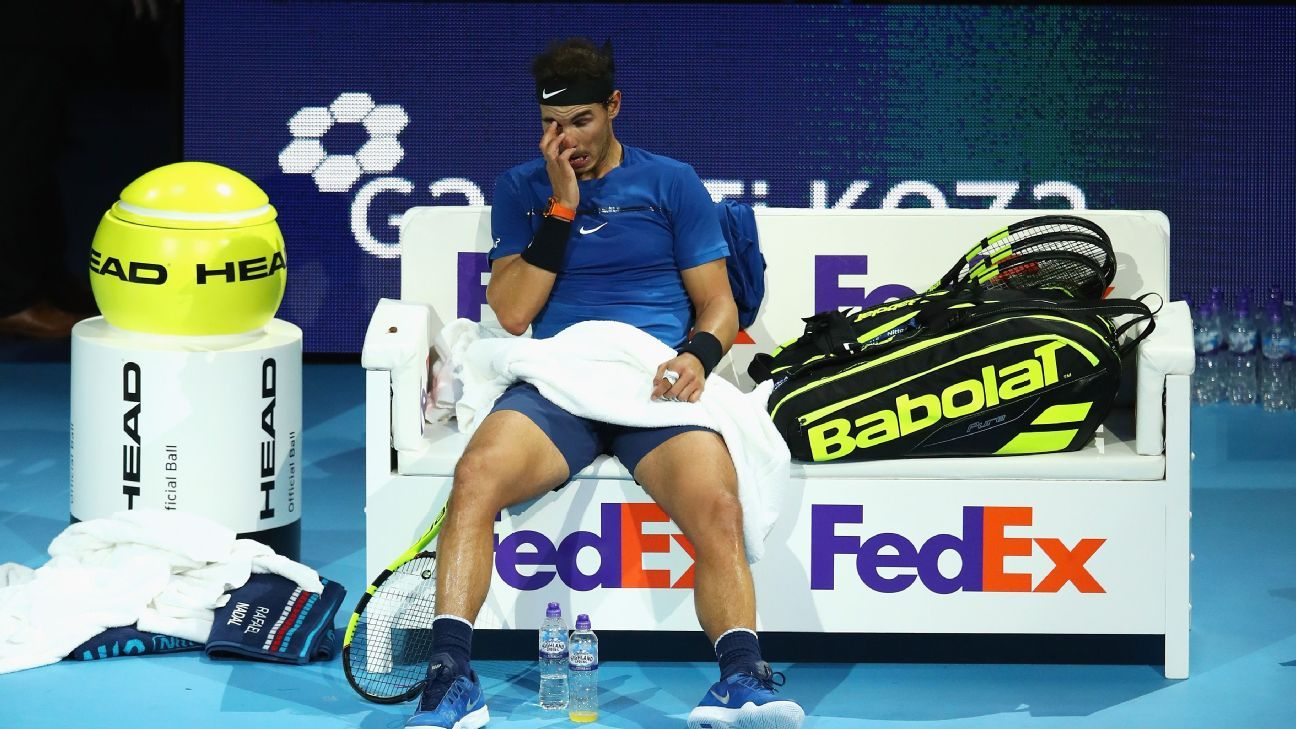 Rafael Nadal loses, pulls out of ATP World Tour Finals