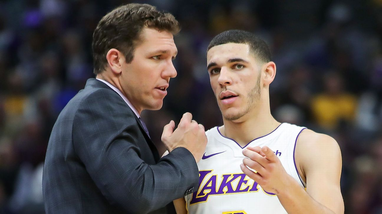 Los Angeles Lakers' Lonzo Ball, Luke Walton dispute LaVar Ball's assertion that Walton has lost team