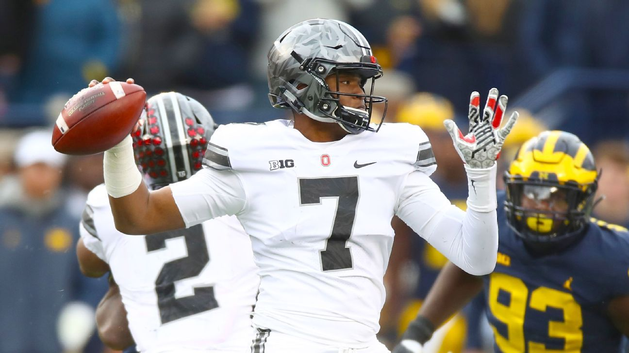 Urban Meyer said Dwayne Haskins will be the starting quarterback heading into preseason camp but will compete with fellow sophomore Tate Martell.