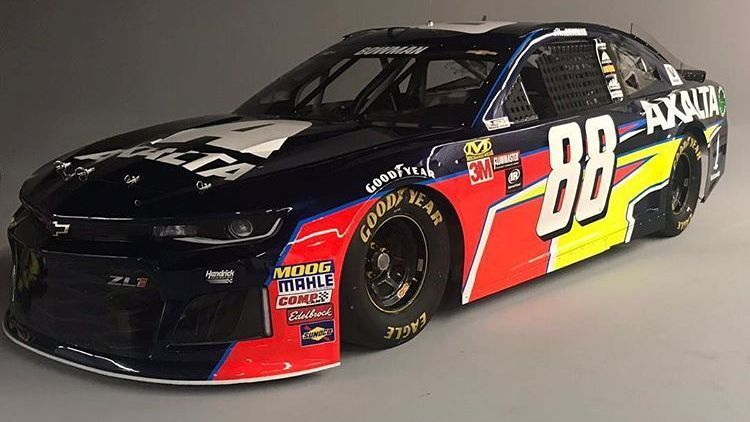 Bowman unveils new 2018 88 axalta camaro for Car painting atlanta