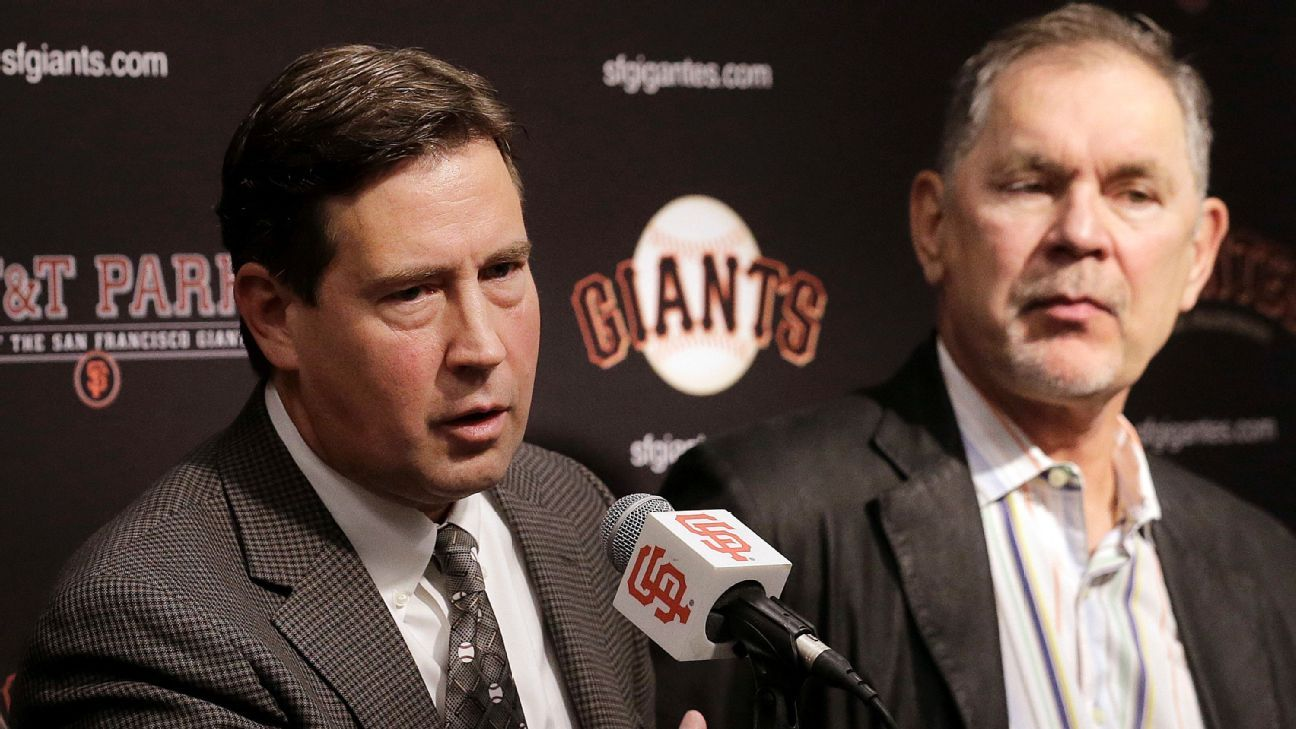 Bobby Evans of San Francisco Giants out amid another losing season