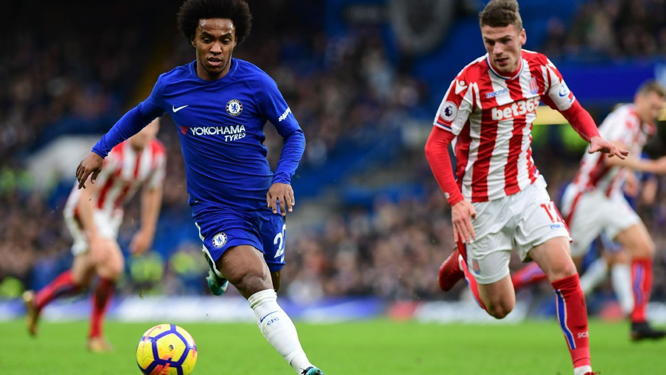 Willian 9/10 as Chelsea swat aside sorry Stoke 5-0 at Stamford Bridge