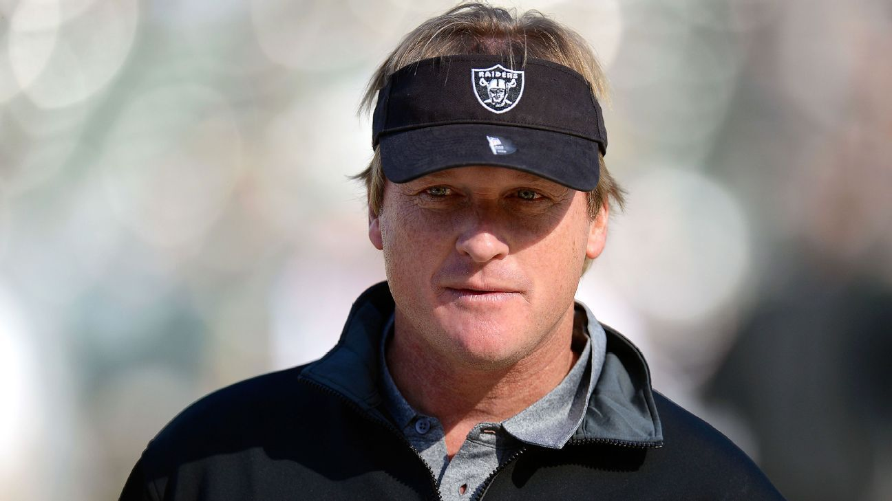 Jon Gruden named Oakland Raiders head coach