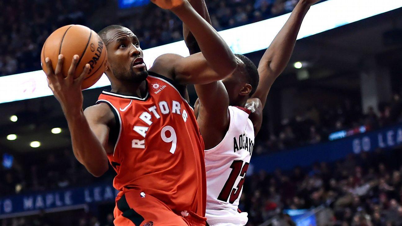 Ibaka, Johnson ejected in Raptors' loss to Heat
