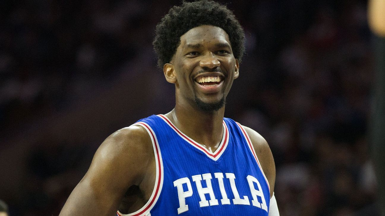 Joel Embiid celebrates All-Star nod with a monster effort for the Philadelphia 76ers against the East-leading Boston Celtics