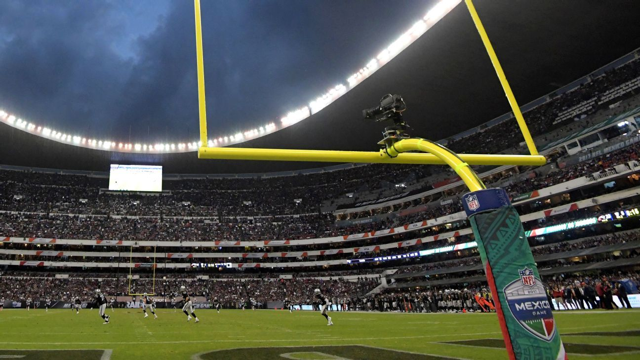 The Chiefs and Rams are scheduled to play the NFL's second Monday Night Football game in Mexico City in November.