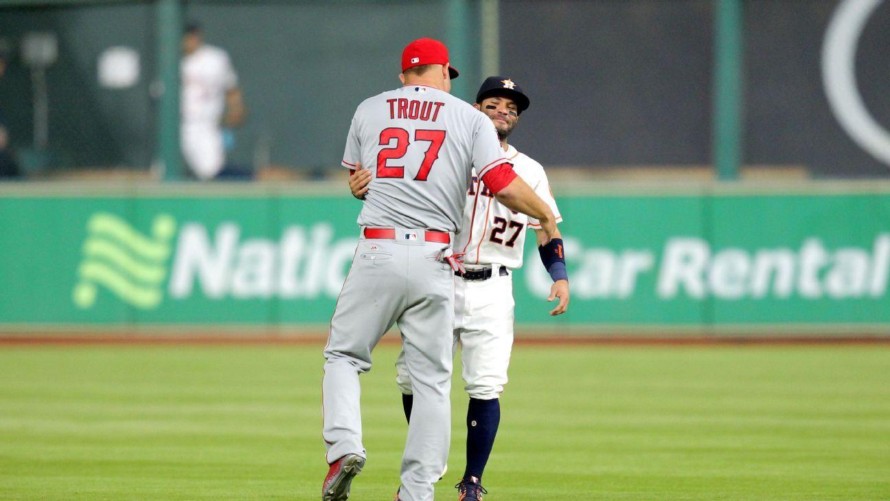 Fantasy baseball rankings -- Jose Altuve or Mike Trout ...