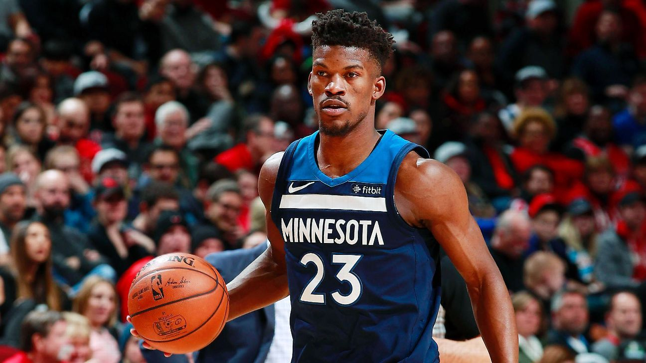 Jimmy Butler of Minnesota Timberwolves leaves game with apparent injury