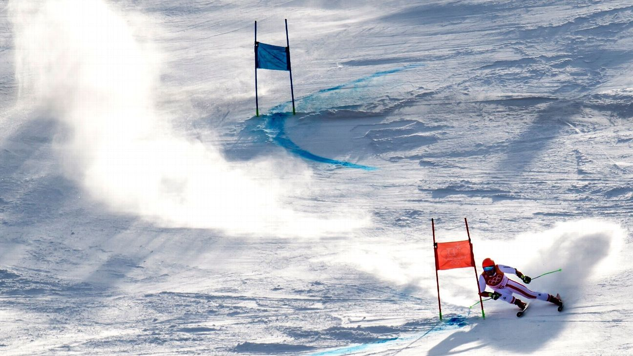 Snowfall, wind cancel season-opening men's GS