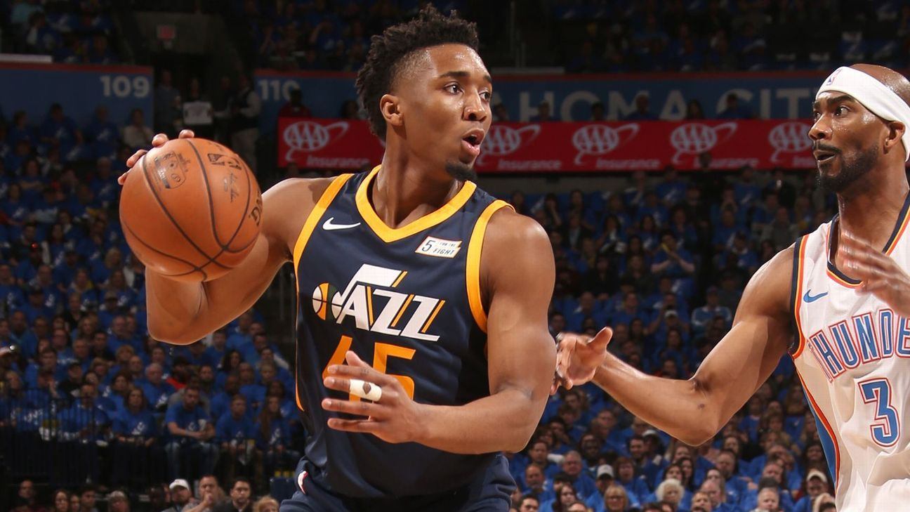 Jazz's Mitchell has contusion; status TBD