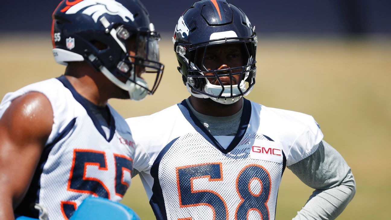 After being mentored by DeMarcus Ware, Miller wants to pay it forward and lead the Broncos. He's starting with his new defensive line teammate.