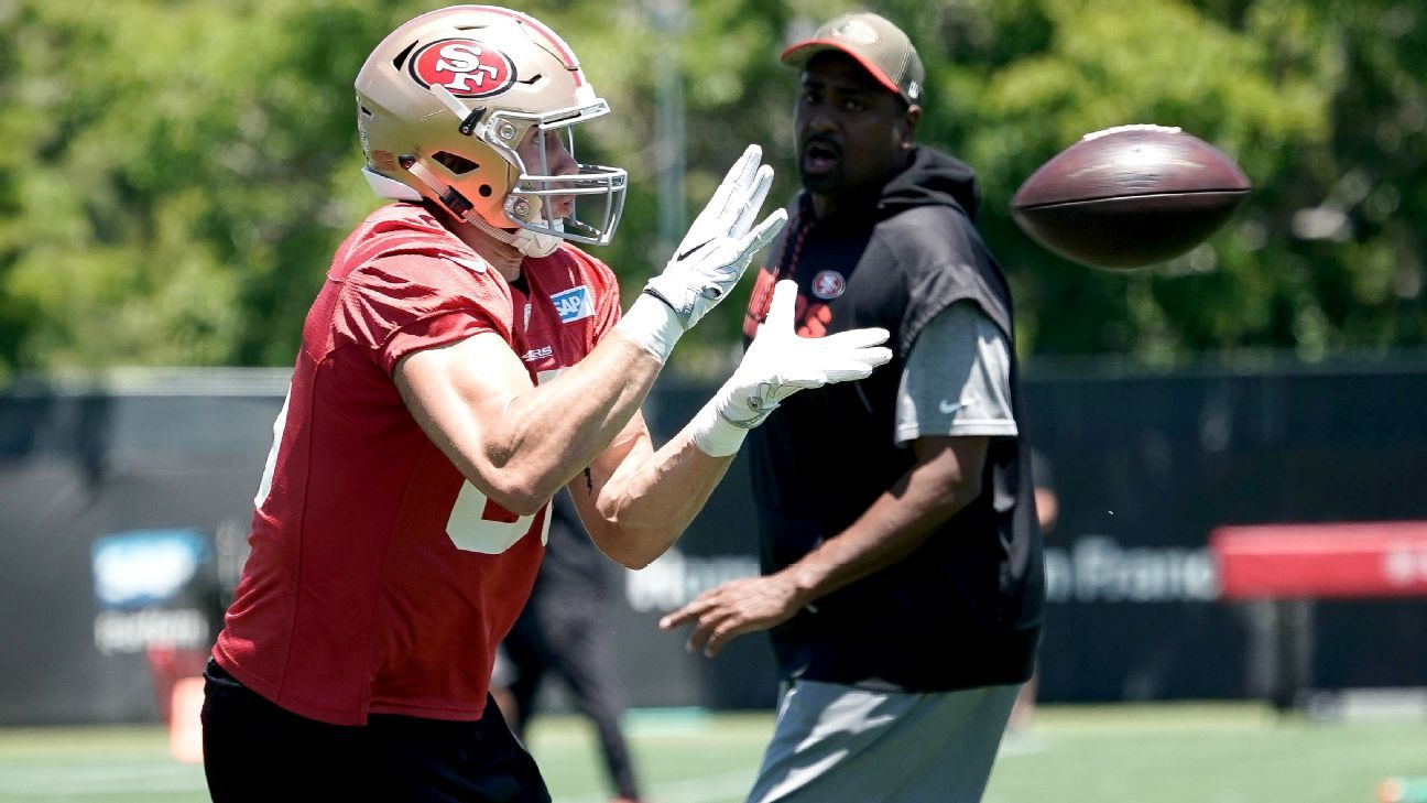 The second-year tight end out of Iowa arrived with little fanfare, but he's showing plenty of potential in Kyle Shanahan's 49ers offense.