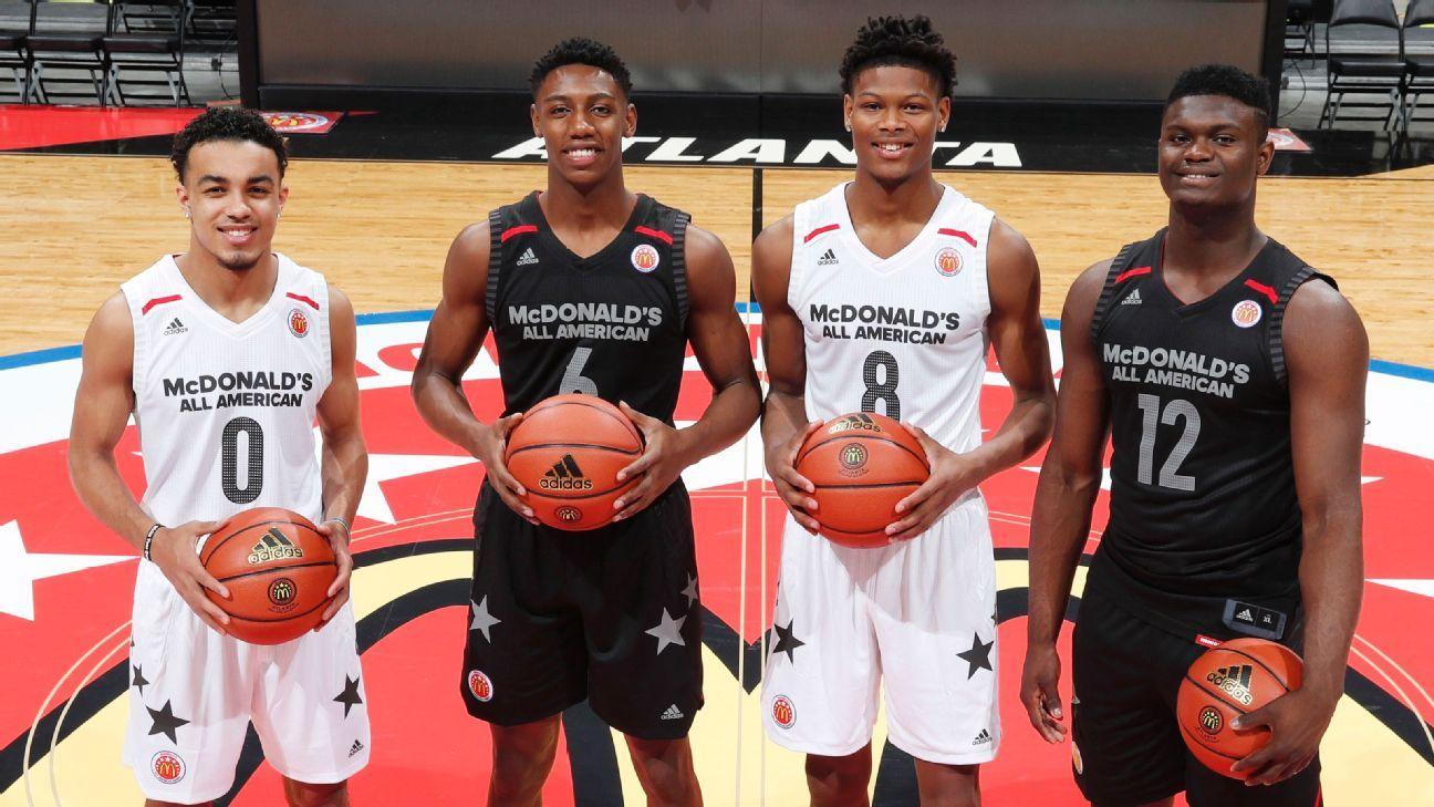 Uk Men S Basketball 2018 2019 Schedule: Starting Lineups For Duke Blue Devils Kentucky Wildcats
