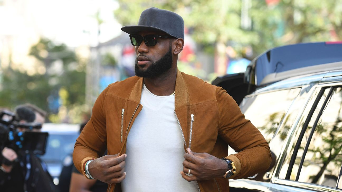 LeBron James sits courtside for Los Angeles Lakers' Summer League game in Vegas - NBA
