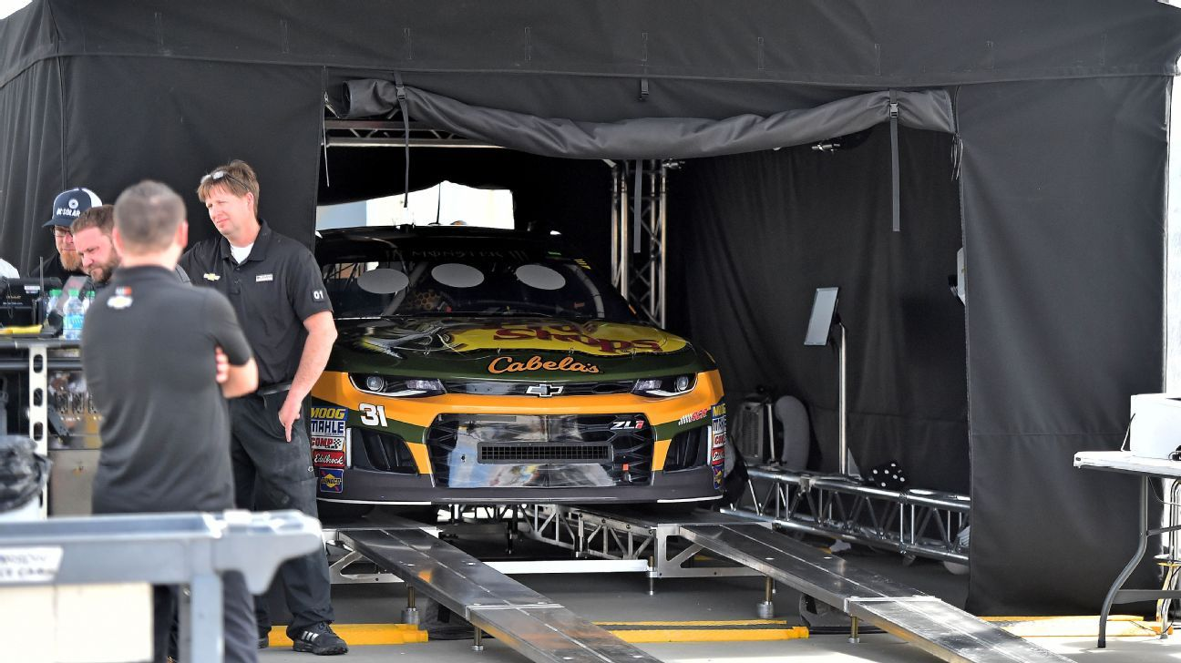 Are teams trying to confuse NASCAR's laser inspection system?