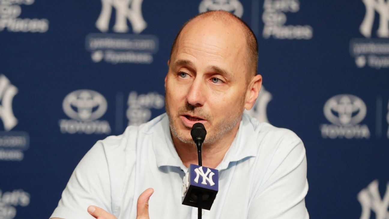 Yankees general manager Brian Cashman downplayed Monday any chatter involving his team and Bryce Harper, the hard-swinging right fielder who has been the headliner of this year's free-agency period.