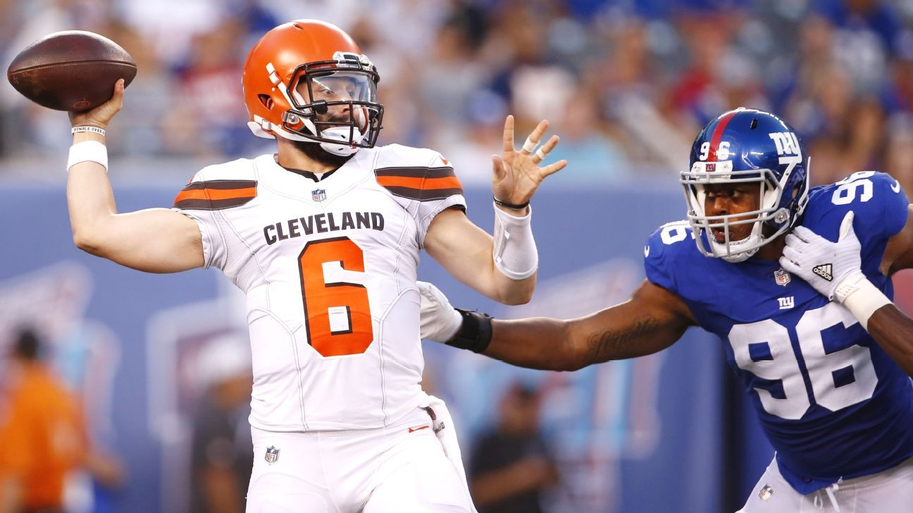Thursday's Browns-Giants preseason contest was the first NFL game in the U.S. in which fans had the opportunity to place a legal wager from the comfort of their seats inside the stadium -- on their phones.