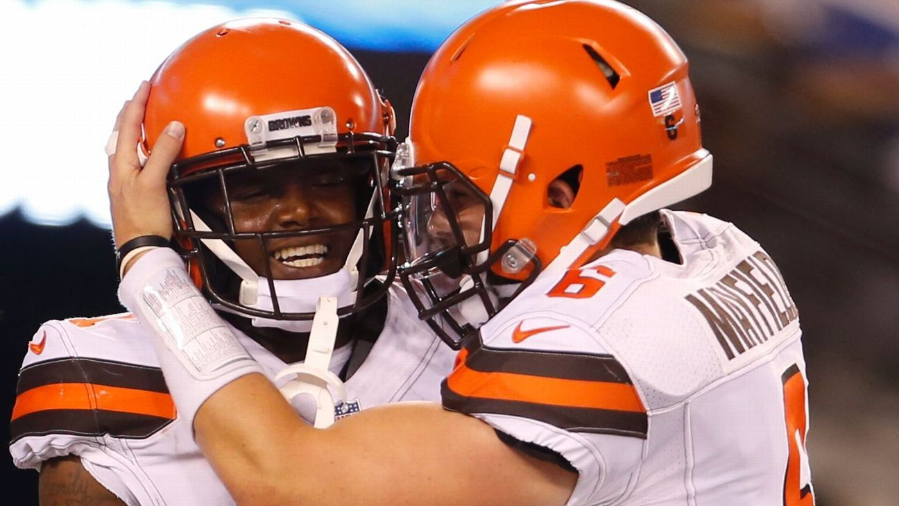 Browns quarterback Baker Mayfield said Tuesday that fellow rookie Antonio Callaway has earned his respect.