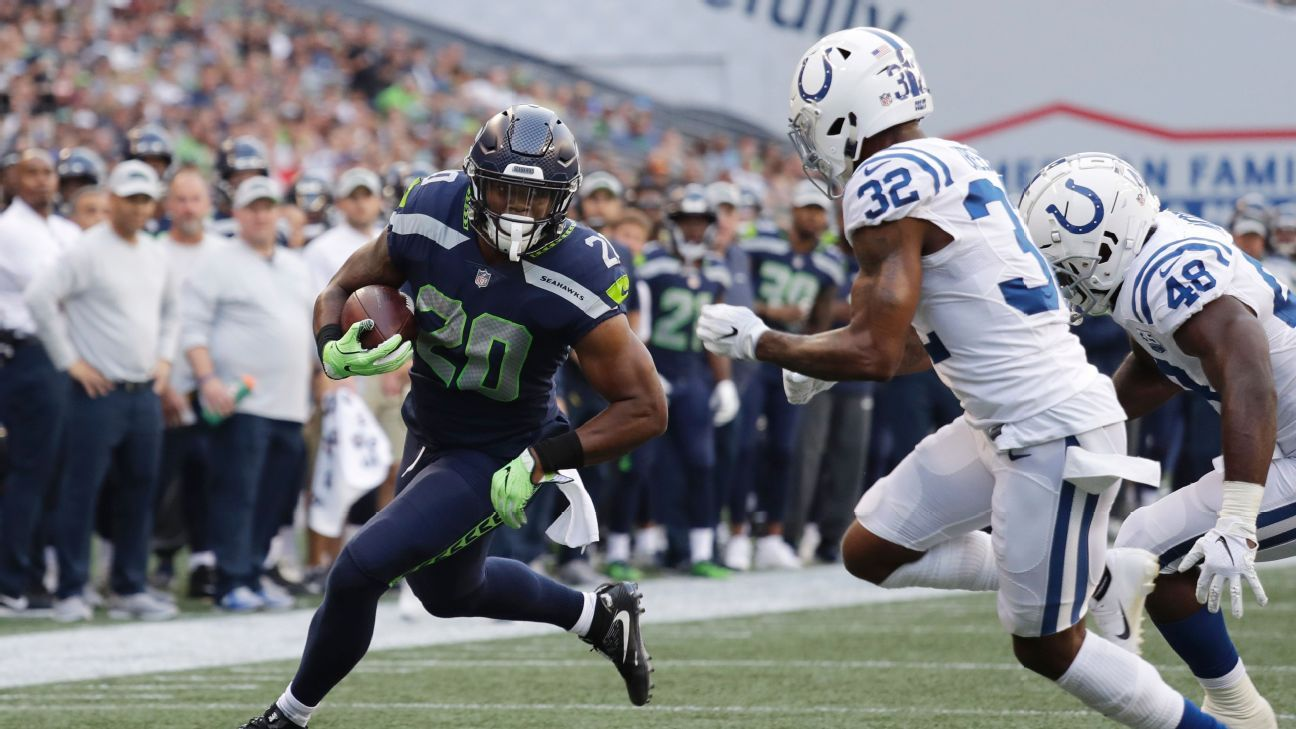 Seahawks rookie running back Rashaad Penny will undergo surgery to repair a broken finger but is expected to be ready by Week 1, a source told ESPN's Adam Schefter.