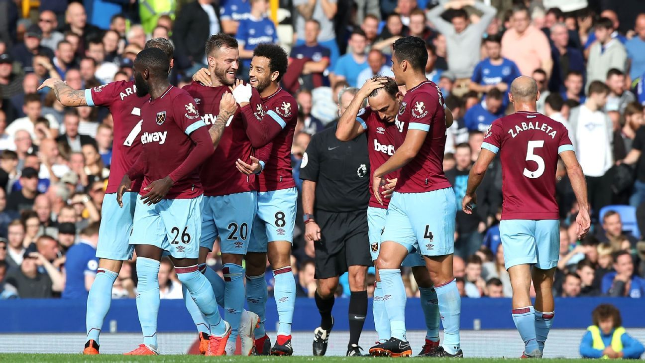 Everton vs. West Ham United - Football Match Report - September 16, 2018 - ESPN