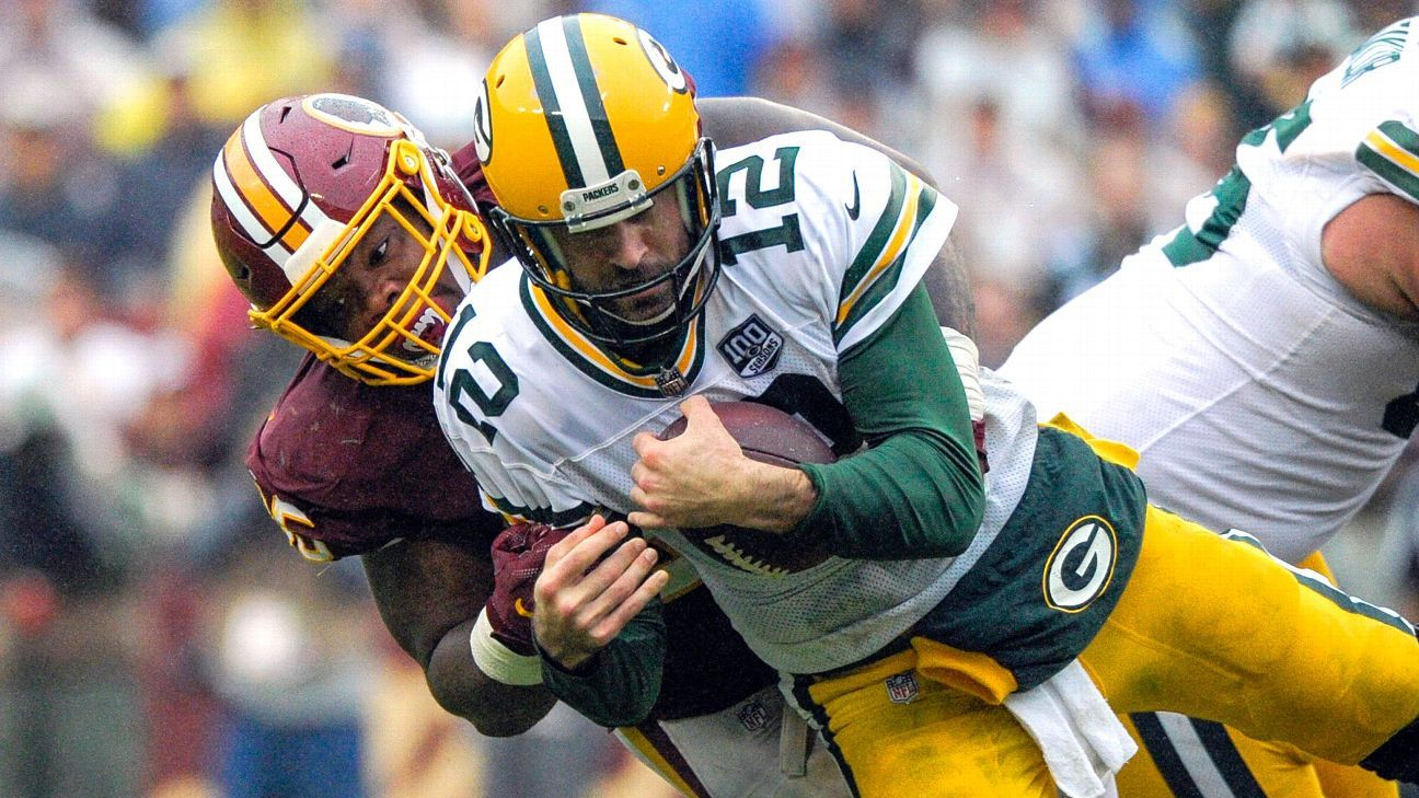 Packers QB Aaron Rodgers, whose top three receivers might be back together for Monday night's game against the 49ers, is hoping to avoid going back to the bulky knee brace he used earlier in the season.